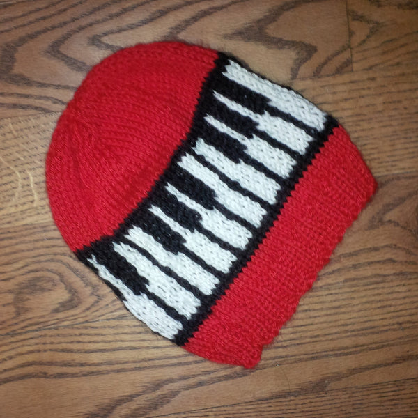 The Keytop Piano Hand-Knit Touque (Hat)