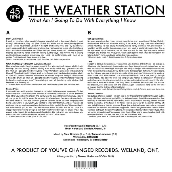 The Weather Station - What Am I Going To Do With Everything I Know