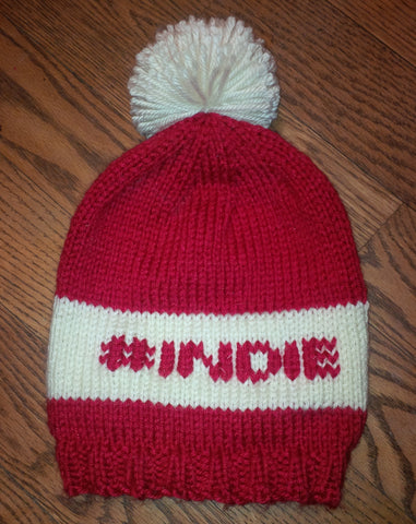 Hashtag Indie Hand-Knit Touque (Hat) - Free Shipping