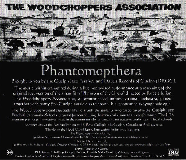 The Woodchopper's Asssociation - Phantomopthera, in MP3 and FLAC digital download format.