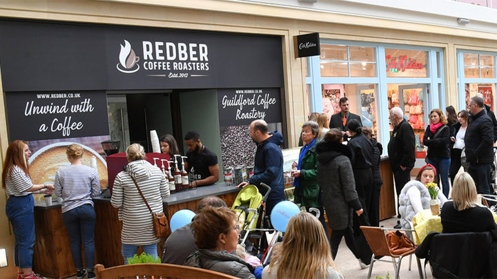 Redber Coffee Pop-Up Café at Tunsgate Quarter Shopping Centre, Guildford