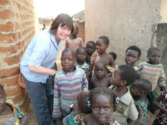 Alison with Ugandan children
