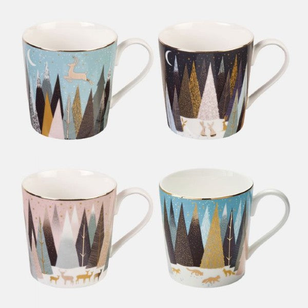 Sara Miller Ceramics Mugs Set of 4