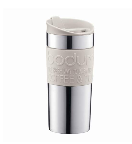 Bodum Stainless Steel Vacuum Travel Mug 11068-913 - White