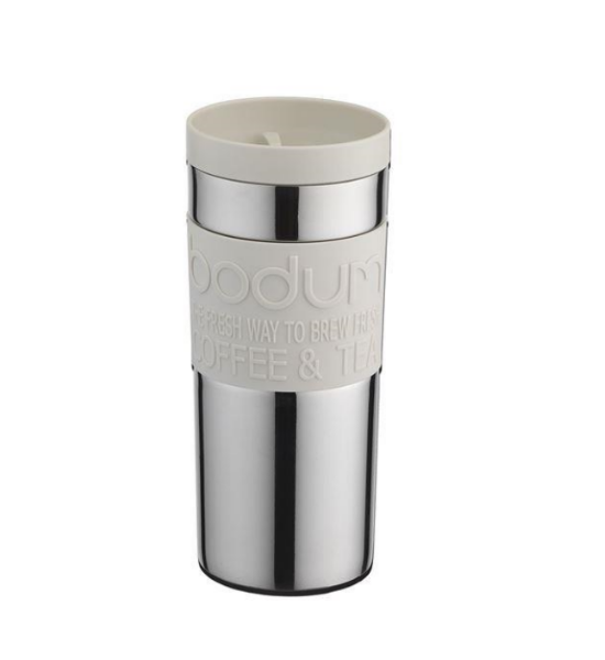 Bodum Stainless Steel Travel Vacuum Mug 0.35L - Off White