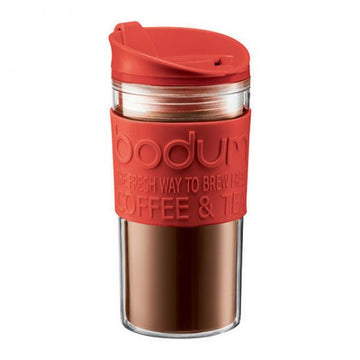 Bodum Vacuum Plastic Travel Mug 11103-294S- Red