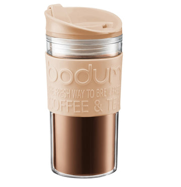 Bodum Vacuum Plastic Travel Mug 11103-980B-Y18 - Pale Pebble