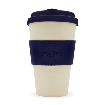 Ecoffee Cup Reusable Bamboo Travel Cup 0.4l / 14 oz. - Blue Nature