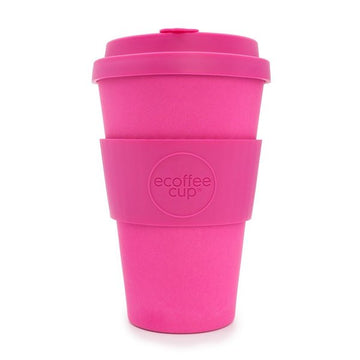 Ecoffee Cup Reusable Bamboo Travel Cup 0.4l / 14 oz. - Pink'd