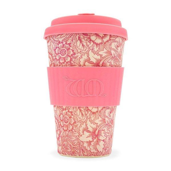William Morris Ecoffee Cup Reusable Bamboo Travel Cup 0.4l / 14 oz. - Poppy
