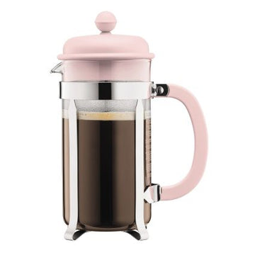 Bodum Strawberry Pink Caffettiera 8 Cup Cafetiere, 1 Litre