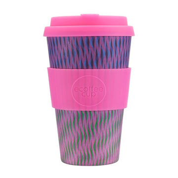Ecoffee Cup Reusable Bamboo Travel Cup 0.4l / 14 oz. - Death Blossom
