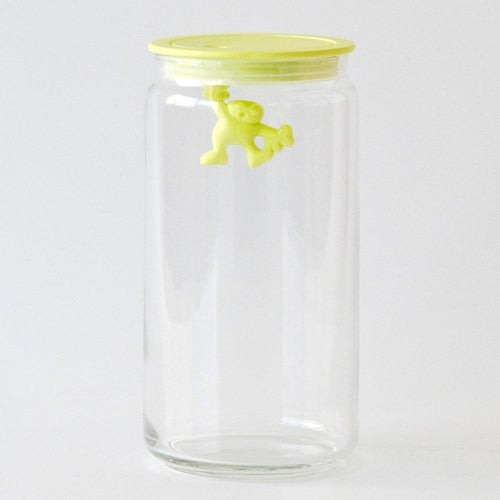 Alessi Gianni Glass Storage Jar, 140 cl - Yellow