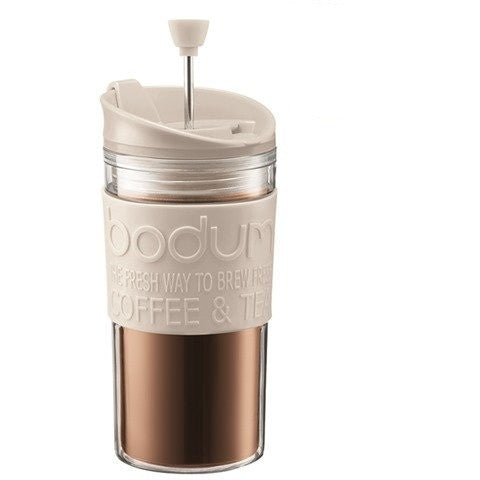 Bodum Travel Mug Cafetiere Press 11102-913 - Off White