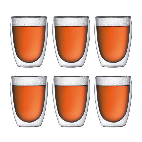 Bodum Pavina 6 pcs glass, Double Wall Glasses, 0.35 l, 12 oz 4559-10-12