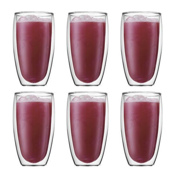 Bodum Pavina 6 pcs glass, double wall, large, 0.45 l, 15 oz 4560-10-12
