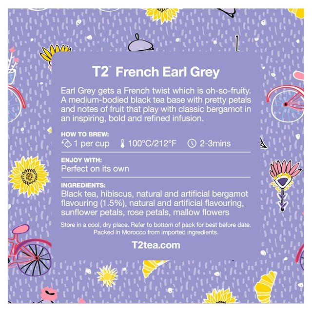 T2 Tea French Earl Grey Teabags - 10 Pack