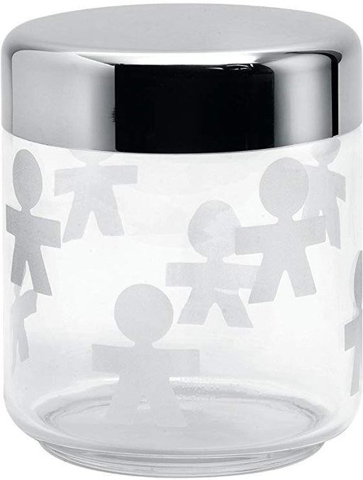 Alessi Girotondo Glass Storage Jar, 75 cl