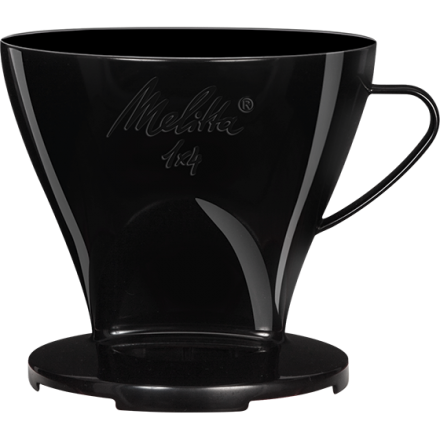 Melitta Filtercone 1x4 (4 Cup) Standard Coffee Dripper with Two Outlets - Black