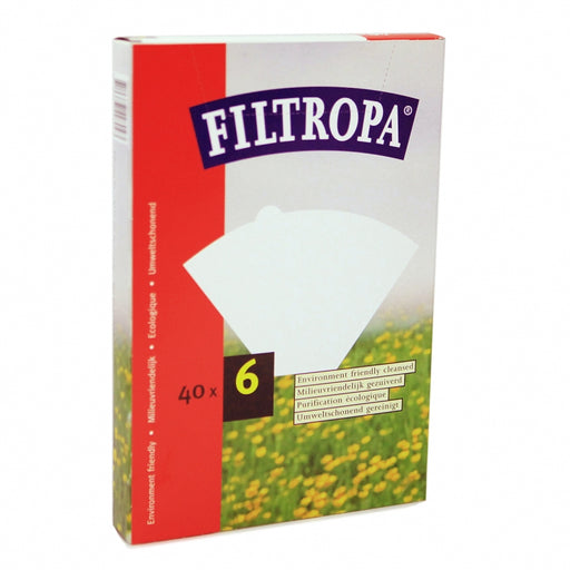 Filtropa White 6 Cup Coffee Paper Filters (40pcs)