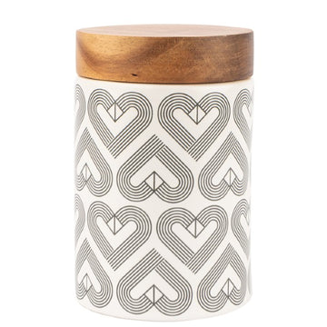 Beau & Elliot VIBE Medium Canister with Acacia Wood Seal Tight lid Chalk