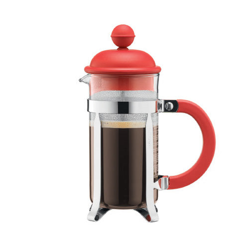 Bodum Caffettiera 3 Cup Cafetiere, 0.35L, Red