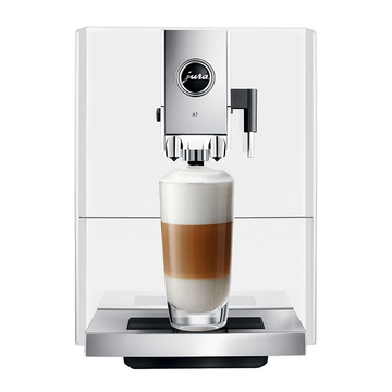 Jura A7 Bean to Cup Coffee Machine - Piano White