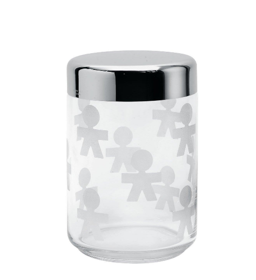 Alessi Girotondo Glass Storage Jar, 100 cl