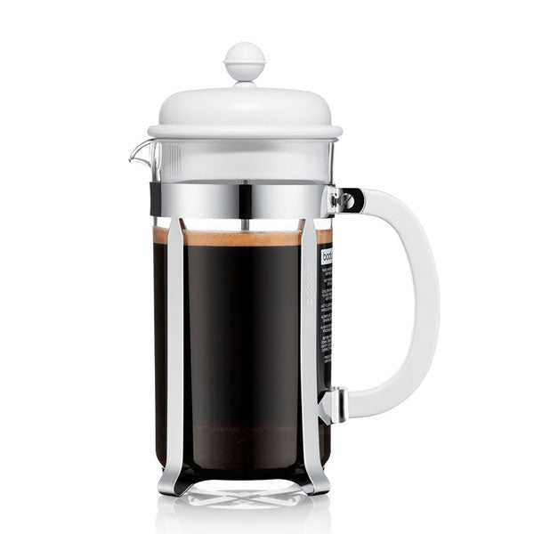 Bodum Caffettiera 8 Cup Cafetiere, 1L, Light Grey