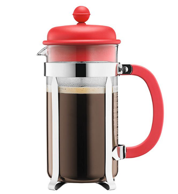Bodum Caffettiera 8 cup Red Coffee Cafetiere, 1L