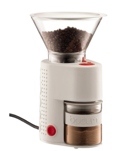 Bodum Electric Burr Coffee Grinder - Off White