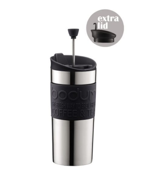 Bodum Travel Mug Cafetiere Press Set 0.35L - Black