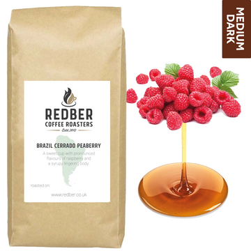 BRAZIL CERRADO PEABERRY (NATURAL) - Medium-Dark Roast Coffee