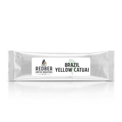 BRAZIL YELLOW CATUAI Medium Roast - Filter Ground Coffee - Case of 40 Sachets