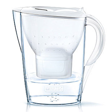 BRITA MARELLA Cool Water Filter Jug 2.4L White with 1 MAXTRA Cartridge