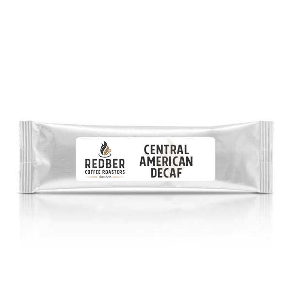 CENTRAL AMERICAN DECAF BLEND Medium-Dark Roast - Filter Ground Coffee - Box of 40 Sachets