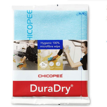 Chicopee DuraDry Microfibre Cleaning Cloth – Blue (Pack of 5)