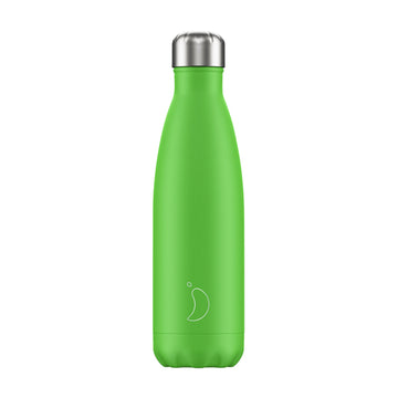 Chilly's Vacuum Insulated Stainless Steel 500ml Drinking Bottle - Neon Green