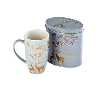 Arthur Price Reindeer Collection Tinned Mugs - Blitzen
