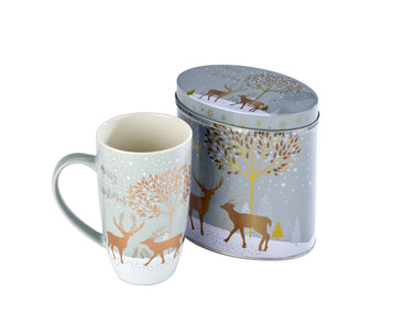Arthur Price Reindeer Collection Tinned Mugs - Prancer