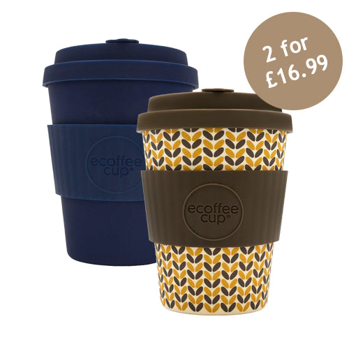 Ecoffee Cup Reusable Bamboo Travel Cup 0.34l / 12 oz. - Dark Energy & Threadneedle