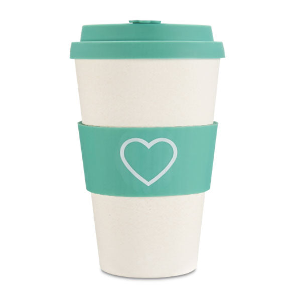 Ecoffee Cup Reusable Bamboo Travel Cup 0.4l / 14 oz. - Aqua