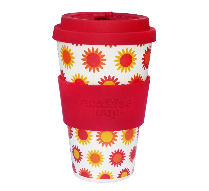 Ecoffee Cup Reusable Bamboo Travel Cup 0.4l / 14 oz. - Happy