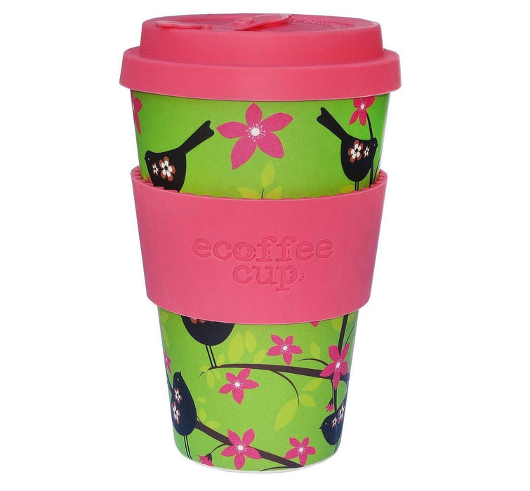 Ecoffee Cup Reusable Bamboo Travel Cup 0.4l / 14 oz. - Widdlebirdy