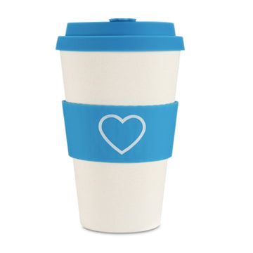 Ecoffee Cup Reusable Bamboo Travel Cup 0.4l / 14 oz. - Sky Blue