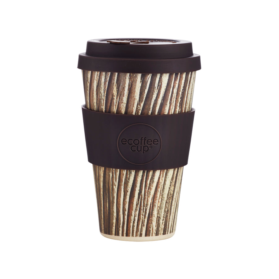Stein Und Holz Ecoffee Cup Reusable Bamboo Travel Cup 0.4l / 14 oz. - Baumrinde
