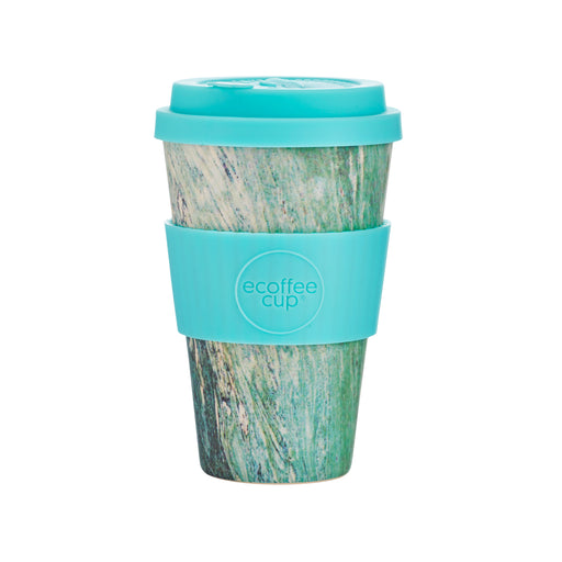 Stein Und Holz Ecoffee Cup Reusable Bamboo Travel Cup 0.4l / 14 oz. - Marmo Verde