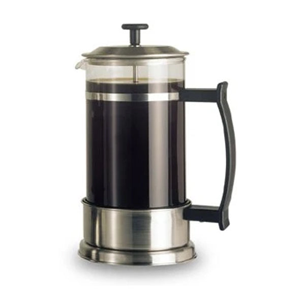 Elia 8 Cup Contemporary Cafetiere - Satin Stainless Steel