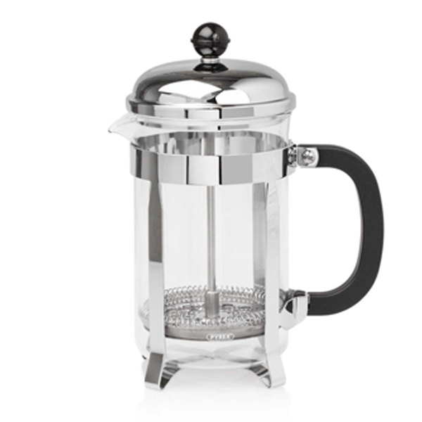 Elia 12 Cup Classic Cafetiere - Chrome