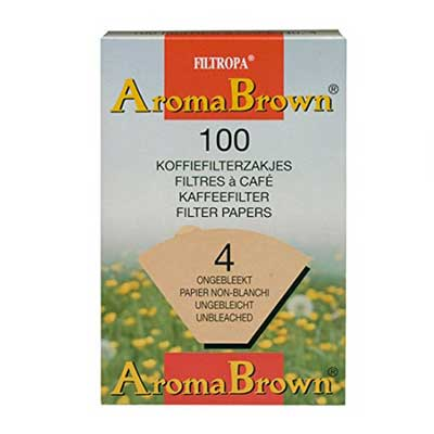 Filtropa Brown 4 Cup Coffee Paper Filters (100pcs)